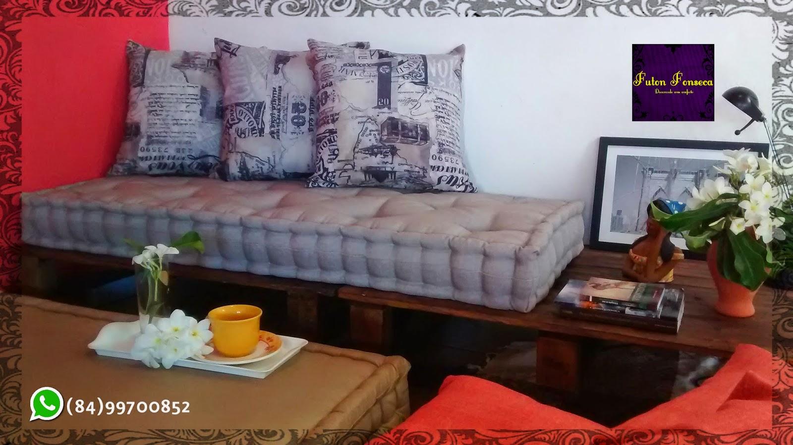 Sofa E Colchao Osasco Tufted Grey Futon Fonseca